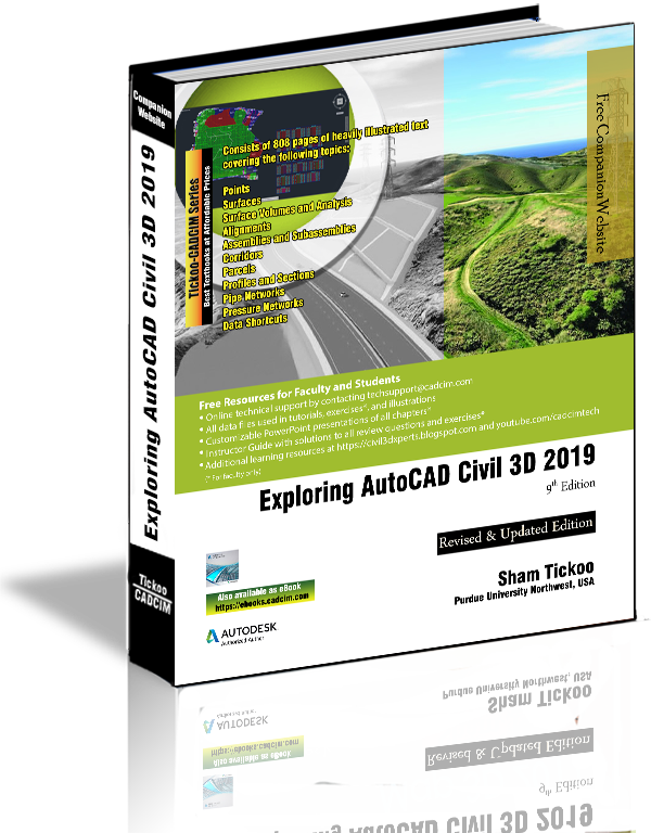 Exploring AutoCAD Civil 3D 2019 Textbook
