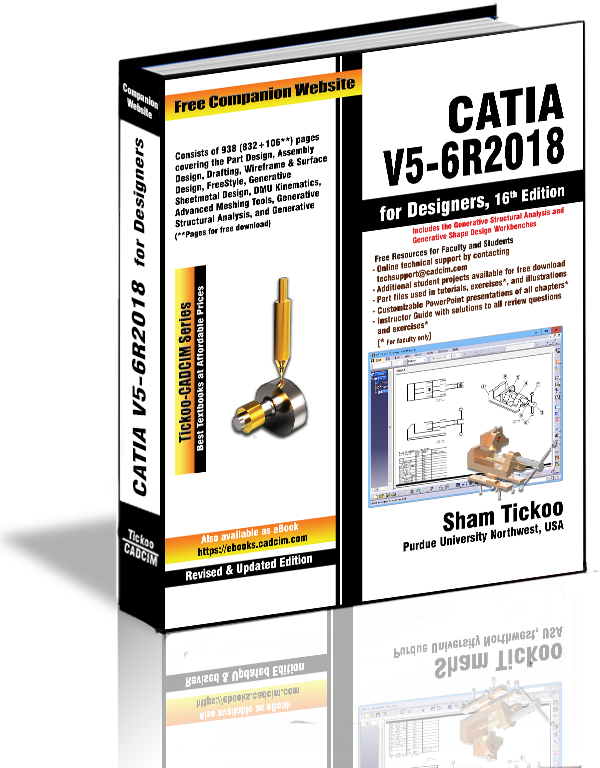 CATIA V5-6R2018 for Designers Textbook
