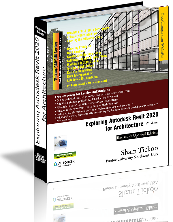 Exploring Autodesk Revit 2020 for Architecture Book By Prof  Sham