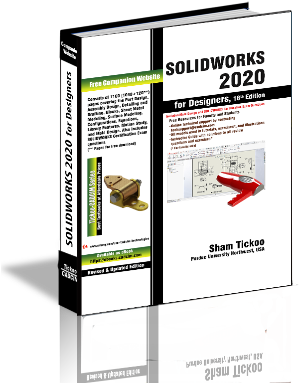 Solidworks 2020 For Designers Book By Prof Sham Tickoo And Cadcim Technologies