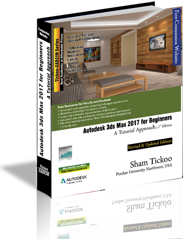 3ds Max 2017 for Beginners textbook