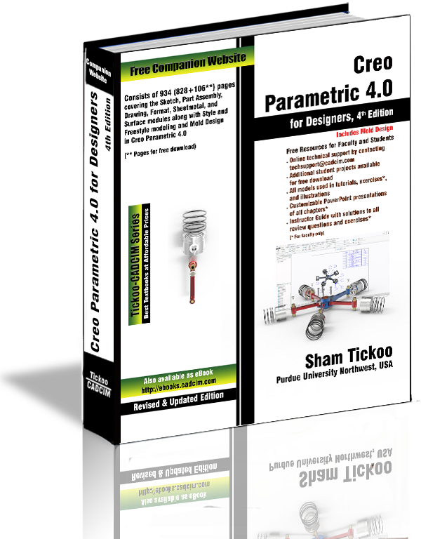 Creo Parametric 4.0 textbook